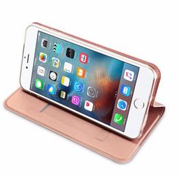 Wholesale Slimmest Iphone Folio Case - Vintage Genuine Folio Flip Grain PU Leather Case Ultra Slim Magnetic Closure for iPhone 7 & plus Iphone 6 6S Samsung Galaxy S7 edge J5 J7 C5