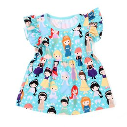Wholesale Girls Princess Tee Shirts - Cute Ruffle Girls T-shirt Summer Polyester Baby Girls Top Ruffle Sleeve Sweet Princess Girls Tees Fashion Children Clothing Tees