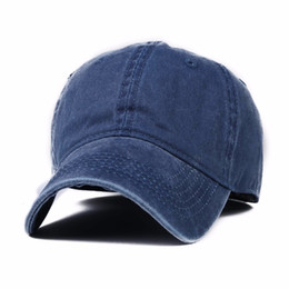 Wholesale Baseball Cap Washed - Wholesale- 2016 Fast ball cap snap pass Canvas polo Hat Cap baseball cap Washed Combed snapback hat for men and women solid Casual Vintage