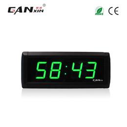 """Orologio digitale lungo online-[Ganxin] Commercio all'ingrosso 1.8 """"Display 4 cifre di vendita calda garanzia lunga Digital Remote Control orologio da parete digitale con luce a led"""