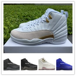 Wholesale Baron Plush - [With Box]cheap new air retro 12 XII basketball shoes ovo white Flu Game GS Barons wolf grey Gym red taxi playoffs gamma french blue sneaker