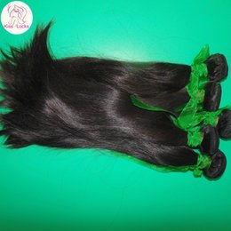 Wholesale Beautiful Hair Pieces - Wonderful Shop My Beautiful Virgin Indian RAW Bouncy Straight Weave 4 bundles Thick Wefts 8A Unprocessed