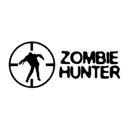 Wholesale Zombie Car Stickers - Cool Graphics Zombie Hunter Cartoonpersonality Car Sticker Vinyl Graphics Decals JDM