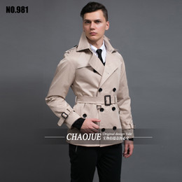 Wholesale Spring Trench Coats For Men - Wholesale- 2016 Spring New Men's Trench Coat England Quality Beige Trenchcoat Plus Size 3XL Mens Trench Coat Male Slim Fit Jacket For Gift
