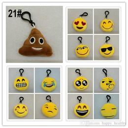 500pcs sacchetto dei bambini bambola ciondolo peluche QQ espressione emoji ripiene giocattoli per bambini emoji portachiavi portachiavi misto 5.5 * 2.5 cm 21 s da borsa di souvenir fornitori