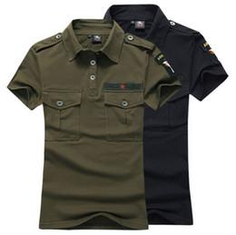 Wholesale Army Uniform T Shirts - Military Outdoor Summer Camouflage Dance Costumes Pure cotton Slim Short sleeve Women's T-shirt Lovers lapel Uniform T shirts