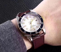 Wholesale Mens Dress Watches Leather Strap - Top Brand New Mens Automatic Japan Miyota Cal.NH35A Watch Men White Dial Heritage Leather Strap Watches Dress Sapphire 797333N Wristwatches