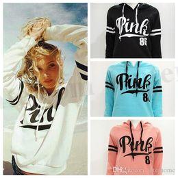 Wholesale Hooded Sweater Shirt - Women Pink Letter Hoodie VS Pink Pullover Tops VS Brand Shirt Coat Sweatshirt Long Sleeve Hoodies Casual Sweater Fashion Hooded Coat D173