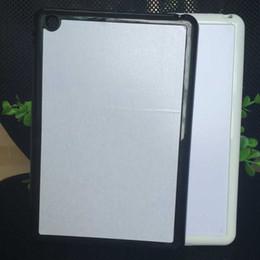 Wholesale Diy Ipad Case - wholesale Rubber TPU+PC 2D DIY Sublimation Case with Aluminium Metal Sheet Glue for ipad mini 1 2 3 for ipad air case