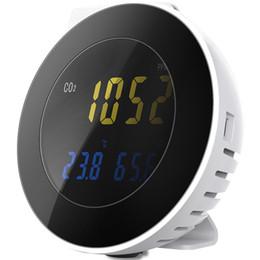 sistemas de alarma de gas Rebajas Analizador de CO2 digital Detector de CO2 Dióxido de carbono Analizador de fugas de gas Monitor con sistema de alarma Sensor de aire CO2 Detector de gas