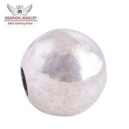 perlas de murano plata 925 núcleo Rebajas Memnon Jewery Silver Loving marca Logo Lock Clip Core Stopper Beads charm Diy Accessories 925 Sterling Silver Flower encantos KT071-N