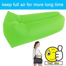 Wholesale Outdoor Bean Bag Lounger Chairs - Wholesale- 2017 fast outdoor waterproof air bag cheap hangout inflatable sleeping bag bean air lounger chair