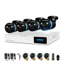 Wholesale Surveillance Dvr Kit Diy - H.View Security Camera System 4ch CCTV System DVR DIY Kit 4 x 1080P Security Camera 2.0mp Camera Surveillance System