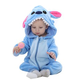 Wholesale Cartoon Animal Cotton Baby Rompers - IDGIRL Hot Baby Boy Clothes Cotton Flannel Quilted Jumpsuit Cartoon Animal Baby Rompers Girl Baby Clothing