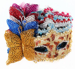 Wholesale Butterfly Makeup - Halloween Makeup Party Party Venice Princess Half Face Queen Sexy Fun Butterfly Mask