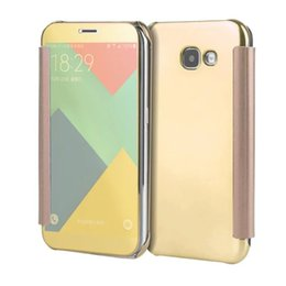 Wholesale Wholesale Case For Note2 - For Samsung Galaxy Note2 Note4 Note5 LG G4 G5 G6 V10 Luxury Slide Smart Chrome Mirror View Flip Clear Wallet case cover cases 50 pcs