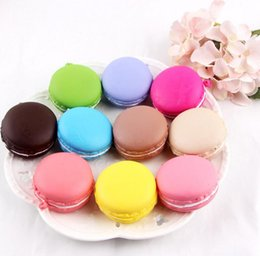 Wholesale Squishy Macaroons - Free Ship 20pcs 5*3cm Delicious Macaroon Squishy Sweetmeats Food Charm Cell Phone Straps Fashion Squishies Pendant Xmas Gift