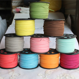 Wholesale Diy Suede Cord - Wholesale New Year Gifts Various Colors 2.7*1.5MM 100 Yard Necklace Bracelet Beading Jewellery Faux Suede Leather Cord for DIY Jewelry Craft