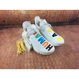 Wholesale Golf Shoes For Women - NMD Pharrell Williams X Human Race Running Shoes For Men Women Real Boost With Original Box Top Quality 2017 NMD Factory US 4-11.5 Hot Sale