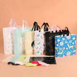 Wholesale Wholesale Customized Shopping Bags - Customize Logo Printing Plastic Bags with Hand Packing Pouches Cosmetics Jewelry clothes food Gift Store shopping Handbag
