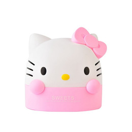 Wholesale Tissue Paper Wholesale Free Shipping - Wholesale- Free shipping japan style cute tissue box High quality plastic can be used in room or car hello kitty pink tissue canister