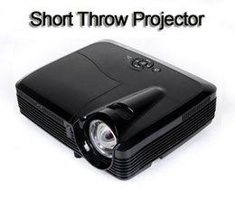Wholesale Dlp 3d Short Throw Projector - Wholesale- 3500 Lumens 1024*768 Short Throw Micro-portable 3D DLP Projector Support Full HD 1080P HDMI USB VGA TV AV for Video Home Theater