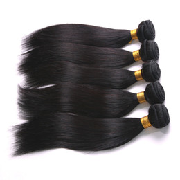 Wholesale Malaysian Off Black - 6A Malaysian Silk Straight Hair Weaves 100% Virgin Human Hair Extensions #1b Off Black Machine Strong Wefts Fast Shipping Within 24Hours