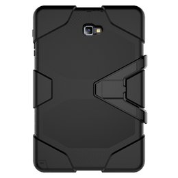 Wholesale Drop Water Case - For Samsung Galaxy Tab A 2016 10.1 P580 P585 Tablet Case Cover Durable Silicone+PC Hybrid Rugged Shockproof Water Repellent Case