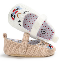 Wholesale Knitting Shoes For Babies - Female baby First Walker Shoes Knitted Cloth Baby Cute Girls Princess shoes casual Sport for Infants Girls S066
