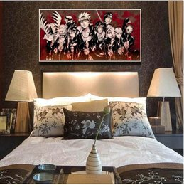 Wholesale Naruto Akatsuki Figures - Single Unframed Anime Naruto Akatsuki Poster Oil Painting On Canvas Giclee Wall Art Painting Art Picture For Home Decorr