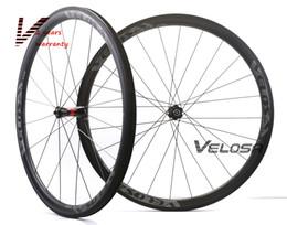2019 carbono de bicicleta de estrada aero Velosa RACE 35 bicicleta de estrada 700C rodas de carbono, 38mm clincher / tubular, cubos DT 240S Sapim cx raio super leve aero rodado carbono de bicicleta de estrada aero barato