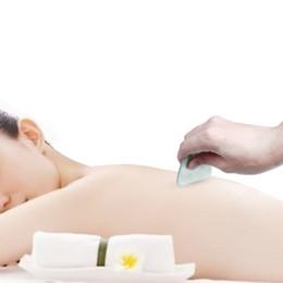 Deutschland Natürliche Hand Made Jade Gua Sha Board Kratzen Körper Massage Guasha Werkzeug Beste für Graston Akupunktur Therapie Trigger Point Behandlung Haut Ren cheap massage guasha Versorgung