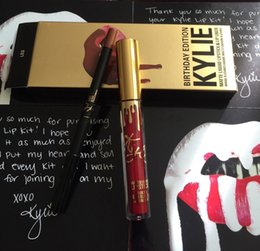 Wholesale Wine Gift Kit - Kylie Jenner Lipkit In LEO Limited Edition Birthday CONFIRMED Matte Lipstick & Liner kylie Jenner Lip Kit Lipstick Best Gift
