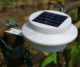 Wholesale Gutter Lights - Outdoor Solar Powered 3 LED Light Fence Roof Gutter Garden Yard Wall Lamp Garden Street Lighting Energy-saving Lights LED Solar Powered MYY