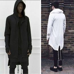 Wholesale Winter Loose Cardigans - New Fashion autumn and winter men's sweater long hooded cardigan cloak cloak men's jacket men casual sweatshirts