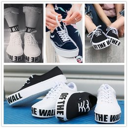 Wholesale Hard Walls - 2017 New Authentic Platform 2.0 Canvas Shoes Fashion Women Black White Old Skool Off The Wall Skate Sneakers Size 36-39