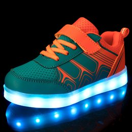 Wholesale Strap For Couples - Kids LED Light Up Shoes Flashing Sneakers with USB Charging Fluorescent Couple Shoes Running Sport Casual Shoes for Childrens
