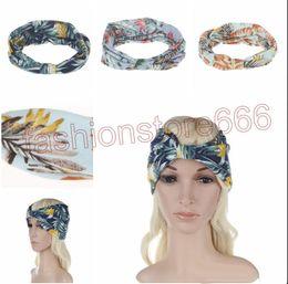 Argentina Nuevo estilo bohemio con estampado floral Twisted Headband Womens Turban yoga vendas del pelo de la venda Suministro