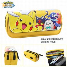 Wholesale double zipper pencil case - Wholesale- Cartoon double multi-purse pencil case Pikachu zipper coin purse (Pen bag 3)