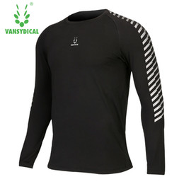 Wholesale gym workout clothes - Workout clothes sport long-sleeved T-shirt high speed dry clothing breathable play basketball gym tights running coat