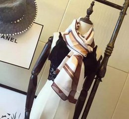 Wholesale Latest Women Scarves - Wholesale free shipping - 2017 cha latest famous brand scarf & packing for female star style gold and silver silk scarf 180 * 70 cm