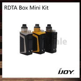 Wholesale Mini 6ml - iJoy RDTA Box Mini Kit With 100W RDTA BOX Mod 2600mah Battery 6ml Tank Firmware Upgradeable IWEPAL Chip AIO Device 100% Original