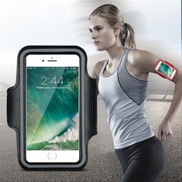 Wholesale Mobile Phone Belt Holders - 4S 5S 5C 5G 6 6S Plus Dirt-resistant Hand Bag Running Arm Band Leather Case For iphone Mobile Phone Holder Pouch Belt GYM Cover