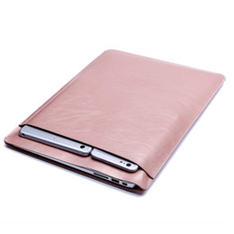 "Wholesale Macbook Pro 15 Sleeve Leather - Light-weighted Double-layer Soft Sleeve Bag Case For Apple Macbook Air Pro Retina 11"" 13"" 15 inch For Laptop Protective Bag Case Pouch"