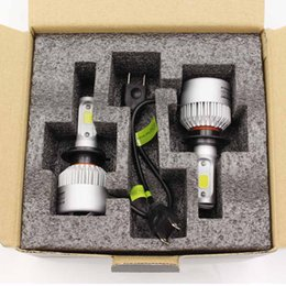 Wholesale H4 Led Car Light 12v - S2 COB H4 hi lo Car LED Headlight 72W 8000LM H4-3 9003 HB2 9004 HB1 9007 HB5 Bulb Fog Light 12V 6500K IP68