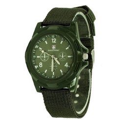 Wholesale Trendy Luxury Fabric - HOT Luxury Analog SWISS ARMY new fashion TRENDY SPORT MILITARY STYLE WRIST WATCH for MEN watch,black,green ,blue watches Free Ship