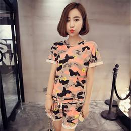 Wholesale Ms Homes - Wholesale- 2017 New Summer Pajamas Sets Women Pyjamas Mujer Girls Nightgown Woman nightwear Ms Home Clothing Sleepwear 2 Piece Suit