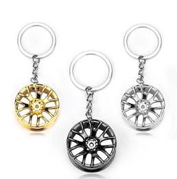 Wholesale Wholesale Wheel Lock Key - Brand new Car wheel key holder metal car hub gift novelty creative KR063 Keychains mix order 20 pieces a lot