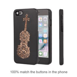 Wholesale wood pattern for carving - Brand New Carving Pattern Superb PC Phone Case Cover for Apple IPhone Wood Grain Personalised Phone Case