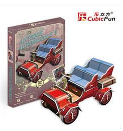 Wholesale Wholesale Cubic Fun - Wholesale- Mini Cubic Fun 3D Puzzle Retro classic cars car model assembled toys for children